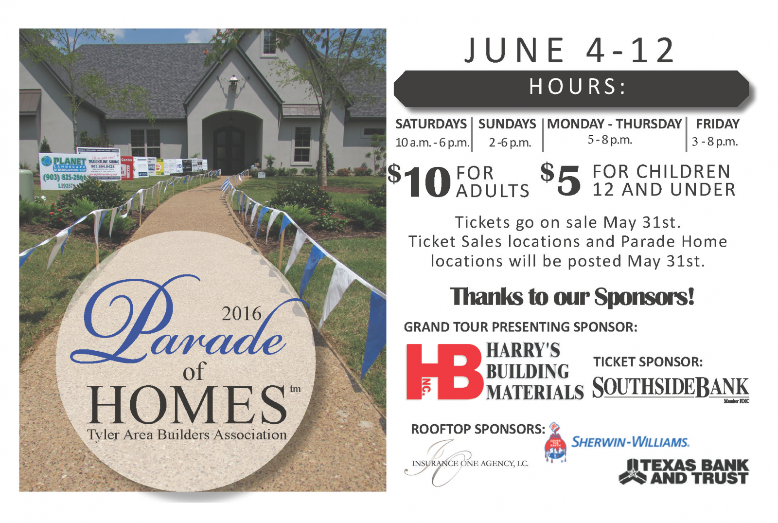 Tyler area builders association parade of homes for Builders in my area